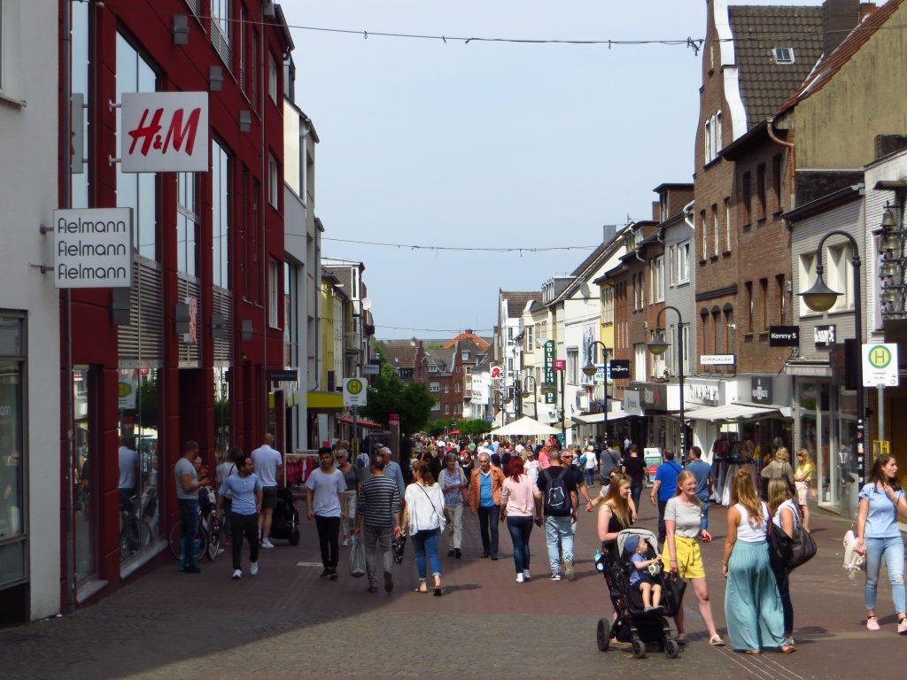 De binnenstad van Kleve.