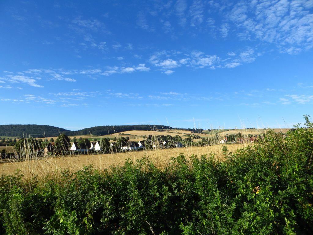 Ik heb de camping net verlaten en fiets nog even 5 kilometer naar het station.