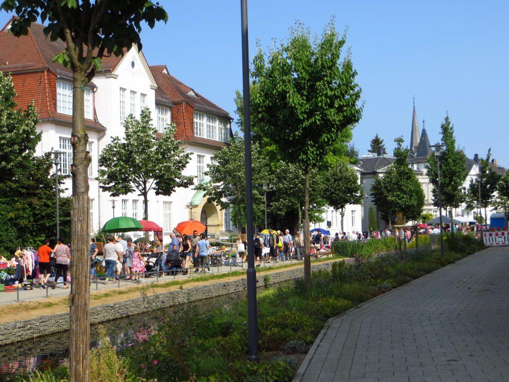 De vlooienmarkt in Detmold.