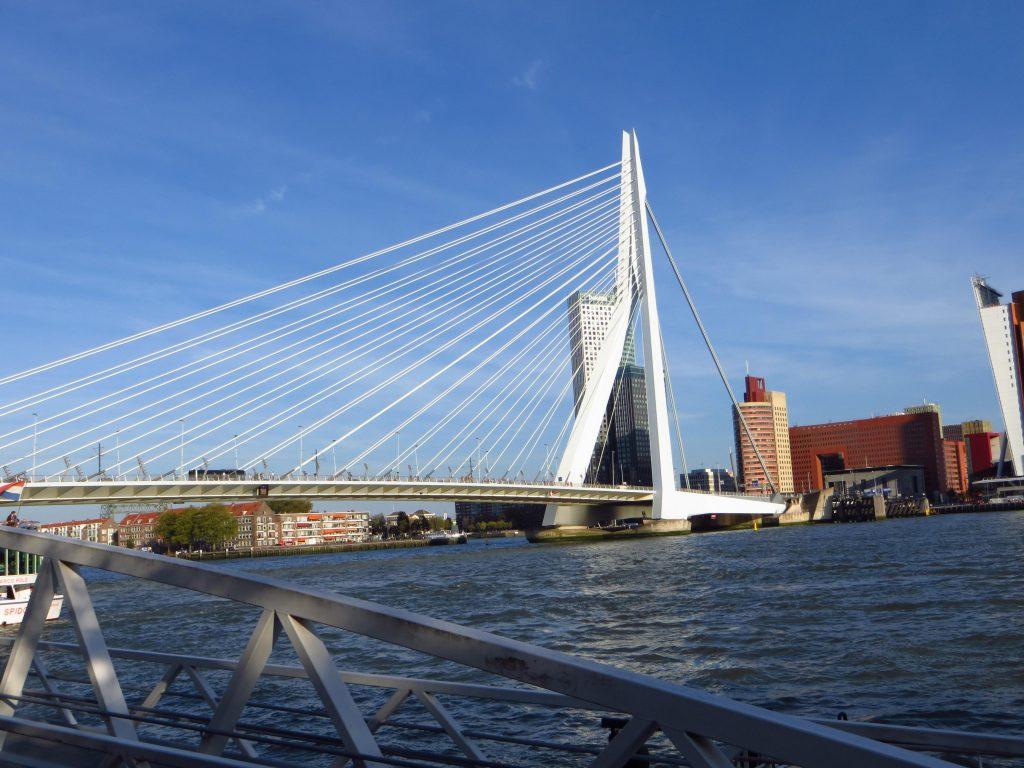Vervolgens over de Erasmusbrug gefietst en even een paar mooie foto's geschoten.