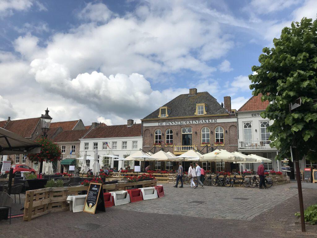 Het historische plaatsje Heusden aan de Bergsche Maas.