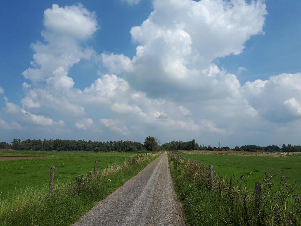 Een mooi open landschap ten zuiden van Bemmel.